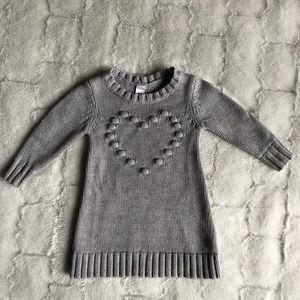 Gray sweater dress size 12-18mos